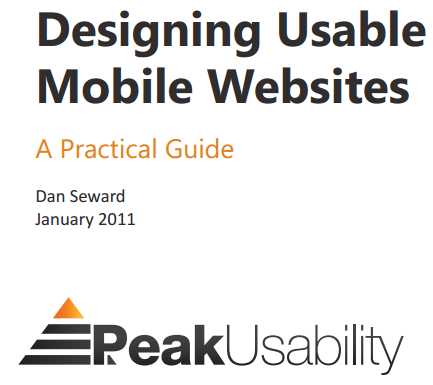 Mobile ecommerce Resources Designing Usable Mobile Websites by PeakUsability A free PDF by