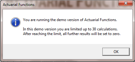 3 DEMO VERSION AND ACTIVATION Afer opening he file, you will be informed abou he demo version running.