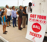 Financial Challenge Powerball Opportunity AFP PHOTO/SCOTT OLSON Unlike major Canadian lotteries that pay only lump-sum prizes, the multistate Powerball Lottery in the United States gives its winners