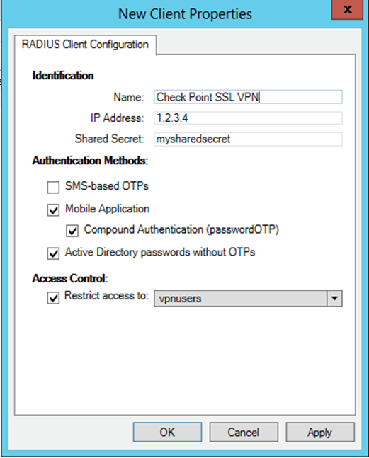 1. Overview This document describes how to enable ESET Secure Authentication (ESA) Two-Factor Authentication (2FA) for a Check Point Software SSL VPN appliance. 2.