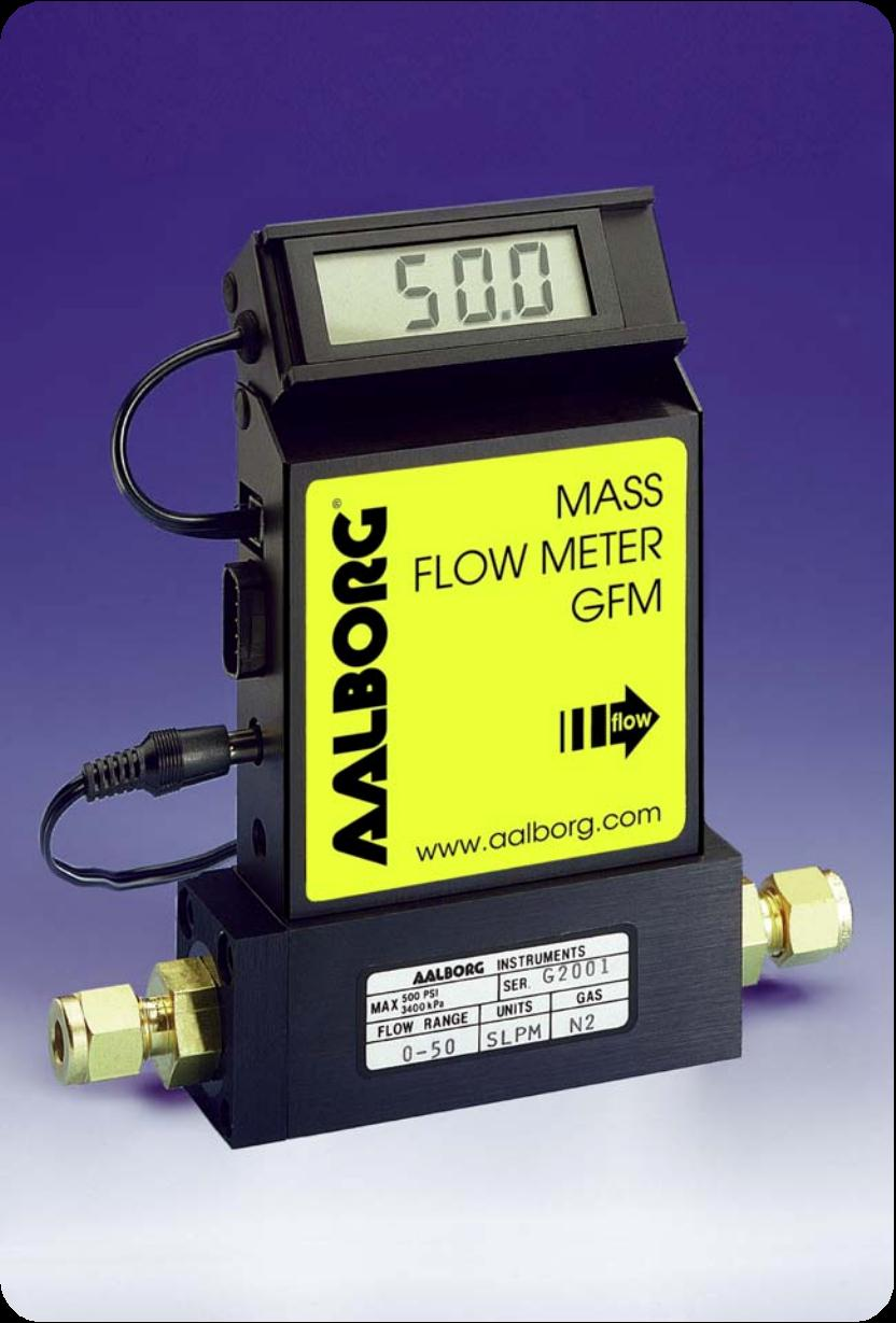 MASS FLOW METERS Design Features n Rigid metallic construction. n Maximum pressure of 1000 psig (70 bars). n Leak integrity 1 x 10-9 of helium. n NIST traceable certification.