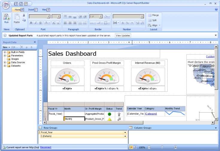 Report Builder & SSRS Reporting Services continues to be one of the most capable dashboard & report design tools Compared to some other tools, report design can be more complex & time-consuming but