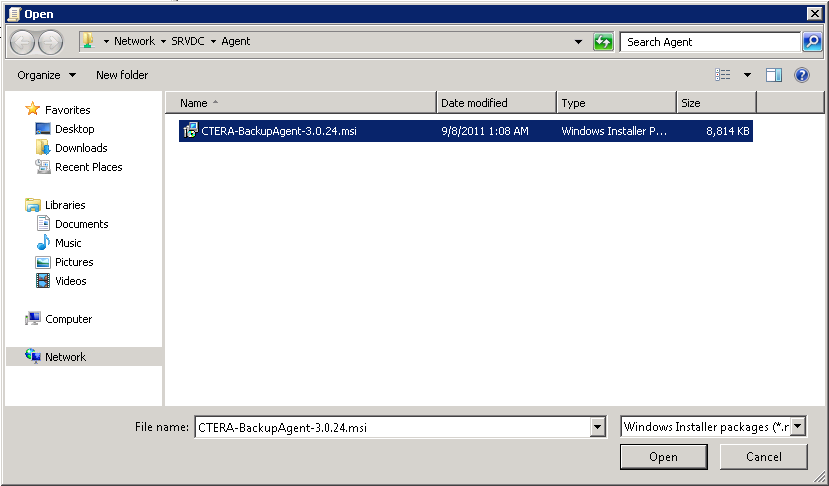 2 Installing the CTERA Agent The Group Policy Management Editor opens. h In the navigation pane, expand User Configuration > Policies > Software Settings.