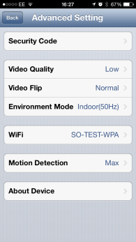 Camera Version 1 CONFIGURING MOTION DETECTION SETTINGS 7a From the Advanced Settings menu, scroll down to Event Setting.