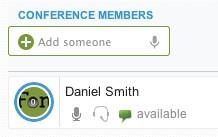 9. Conferencing a. Joining a Conference Call CLICK => The Conferencing icon on the Control Panel menu. CLICK => Sort by Location to sort conference rooms by location, room number or activity.