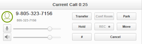 b. Transferring an Internal Call USER GUIDE: HUD WEB CLICK => All to use SEARCH to find the Contact Name DRAG and DROP