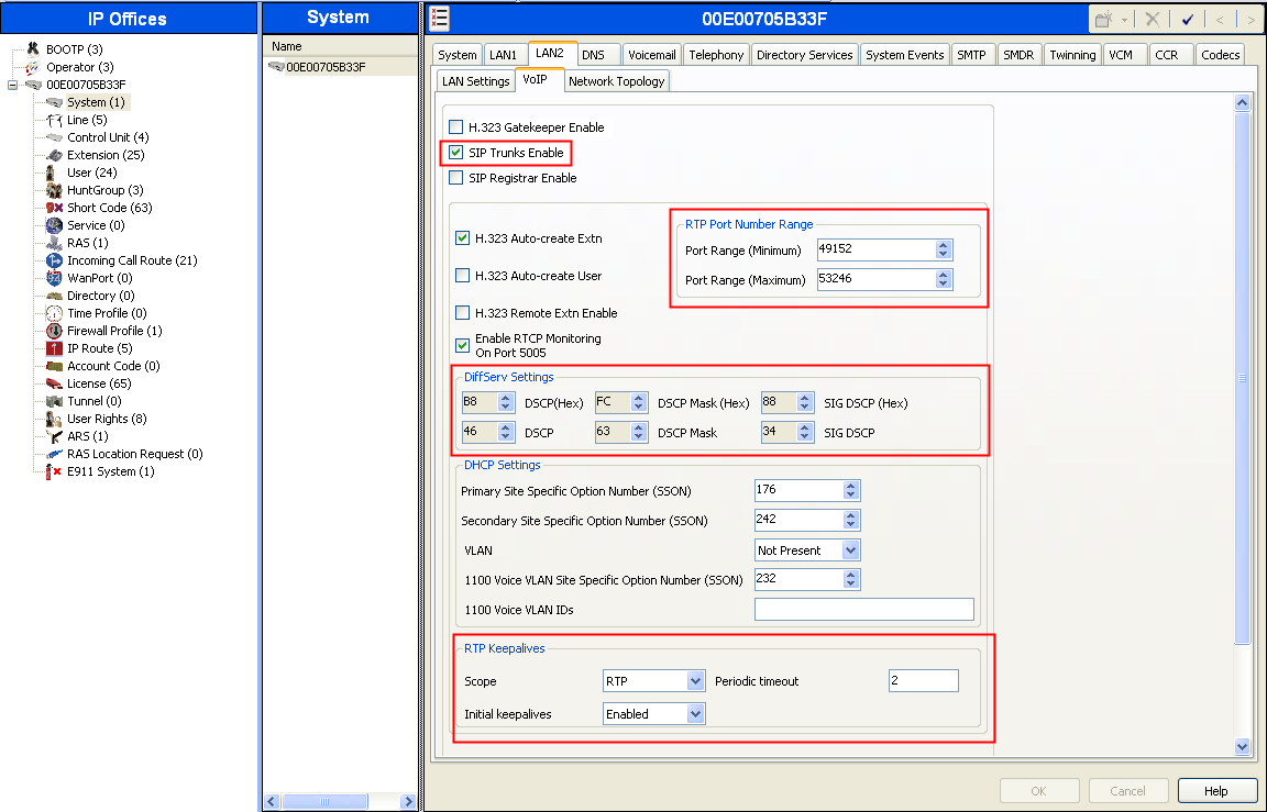 On the VoIP tab in the Details Pane, check the SIP Trunks Enable box to enable the configuration of SIP trunks.