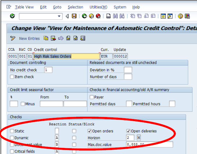 Change Log Example Control Objective: Customer credit checks are performed based