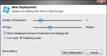During Sitecore Azure installation you created one or more farms. Here are some additional considerations: 1.