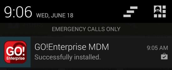 Install GO!Enterprise MDM Installing From the Google Play Store Google Play Store is an updated version of the digital marketplace, Android Market.