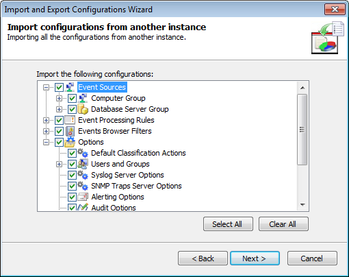 Screenshot 272: Specify instance location 3. Specify the installation folder path of the instance you want to import configurations from. Alternatively, click Browse... to look for it. Click Next.