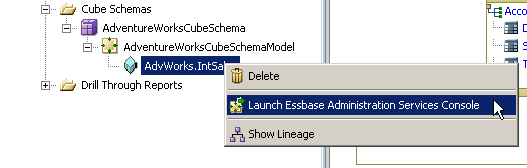 3. Wait for the deployment to complete 4. Click OK 5. Click Cancel 6. In the AdventureWorksAnalysis folder navigate to Cube Schemas and expand the Model, right-click on the AdvWorks.