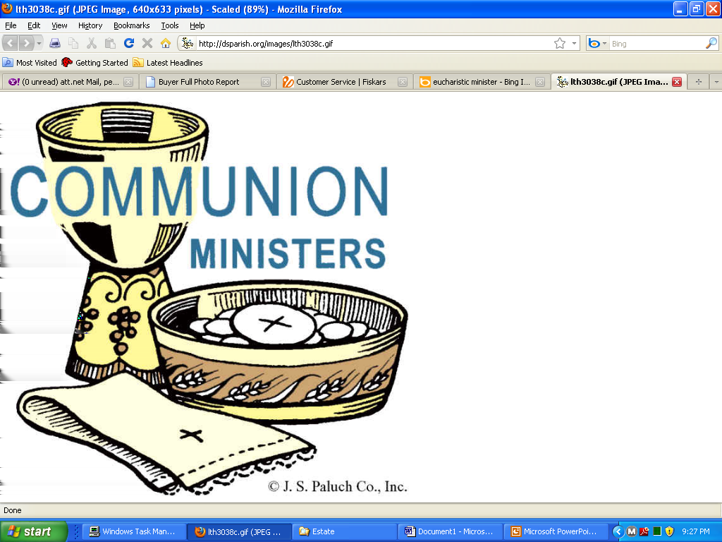 EXTRAORDINARY MINISTER OF HOLY COMMUNION DR A FT ANNUAL
