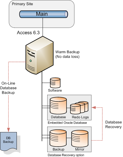 In case of a major incident resulting in the loss of the Access database, this recovery data is used to restore the database to its last committed state.