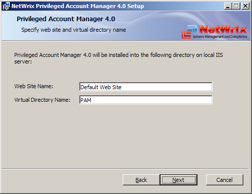 2.2. Installing the Product NetWrix Privileged Account Manager can be installed on any computer in the managed domain. Choose one of the computers to be the management server.