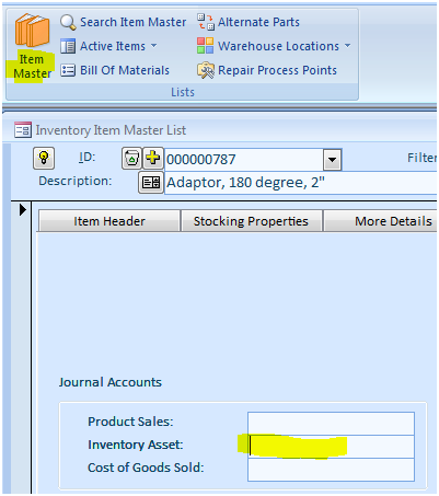 Negative Adjustment for Synchronization. This account should be of the Expense or Other Expense type in QuickBooks.
