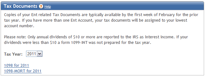 Statements To view electronic statements, tax documents, and to update your account s statement delivery preference, access the Statements menu.