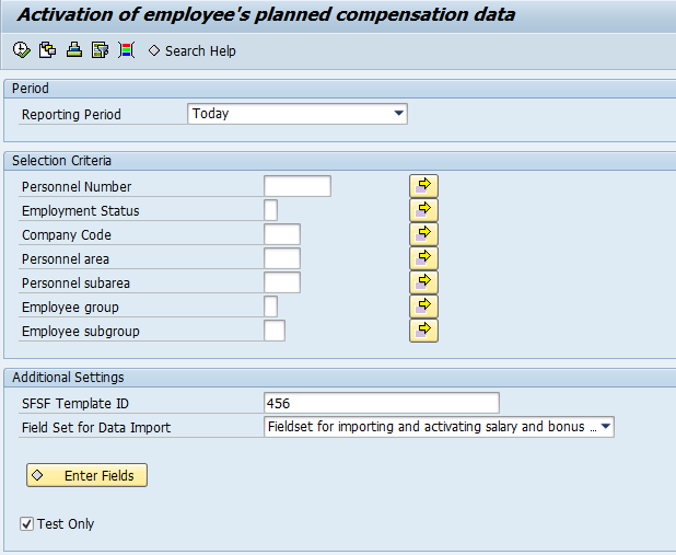 Bringing back Compensation results into SAP HCM Bring back SFSF Compensation Planning results into SAP ERP HCM in a 2 steps, safe approach: 1.