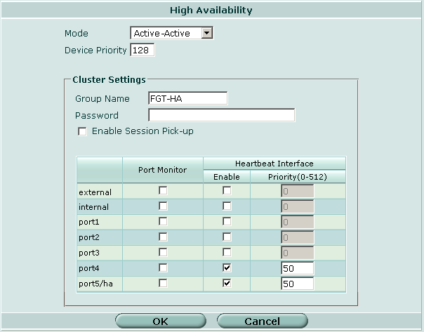 Configuring and connecting HA clusters Configuring a NAT/Route mode active-active HA cluster Figure 20: Example FortiGate-3600 active-active HA configuration 4 Power off the FortiGate unit.