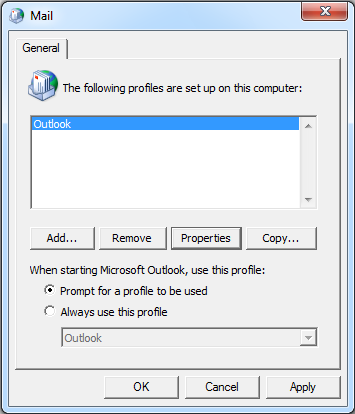 Option B: Connect to Multiple Exchange Servers If your computer is already configured to connect to another Exchange server such as your work Outlook email, you will probably want to create a 2 nd