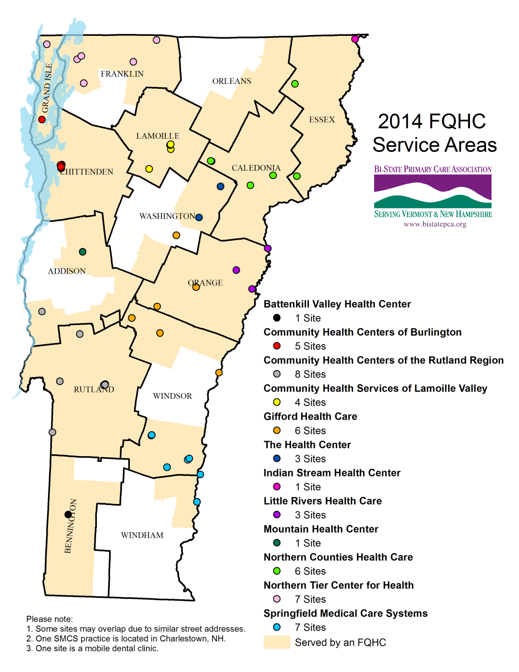 10 Providers FEDERALLY QUALIFIED HEALTH CENTERS (FQHCs) 12 FQHCs (including NH-based Indian Stream s Canaan, VT site) 51 primary care sites in 12 counties Federal grants support sliding fee scale