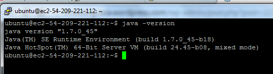 $ sudo add-apt-repository ppa:webupd8team/java Then type $ sudo apt-get update && sudo apt-get install oracle-jdk7-installer Check if Ubuntu uses JDK 7 Type: $ java version The response should be