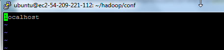 1.6.3 Modify masters file on Master machine conf/masters file defines on which machines Hadoop will start Secondary NameNodes in our multi-node cluster.