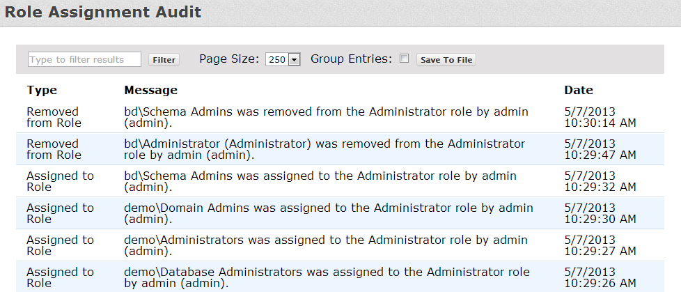 EDIT ROLE PERMISSIONS From the Administration menu, click Roles and then select a role to edit. Use the arrows on the page to move permissions between the Assigned and Unassigned boxes.