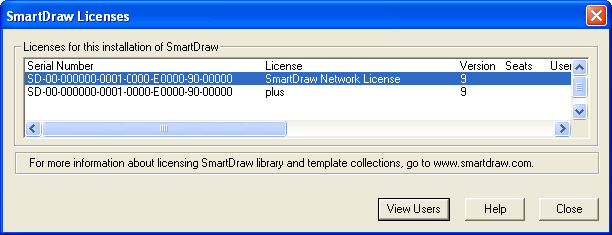 Administering a Multi-Seat License To access the Administration Dialog, start up SmartDraw, create a document, access the Help Ribbon, and select the License icon.