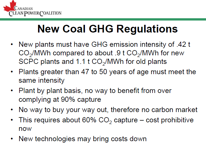 GHG REGULATIONS IN RELATION TO POWER GENERATION CREATE MARKET PULL FOR UTILIZING