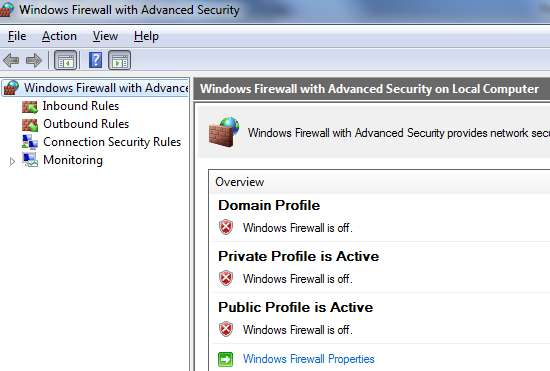 Windows 7 To locate the Windows firewall on a Windows 7 OS, click the Start button and open Control Panel, then Windows Firewall, then choose Advanced Settings.