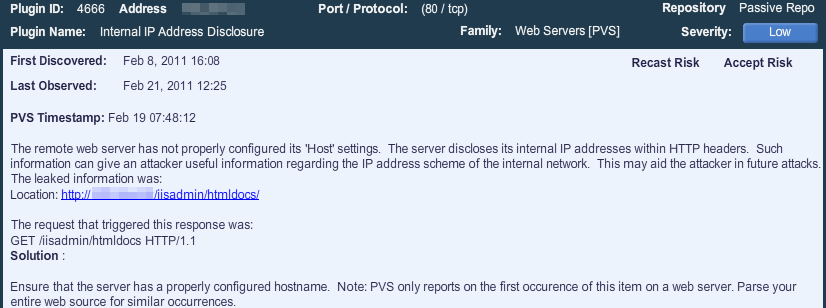Detecting VPN Client Plugin 2914 VPN Client Detected The remote workstation is running as a VPN client.