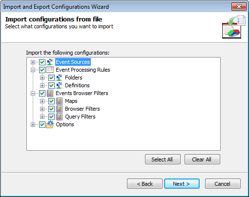 Screenshot 274: Specify configuration file location 3. Specify the path where the import file is stored or click Browse... to look for it. Click Next.