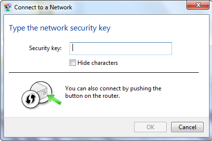 Section 5 - Connecting to a Wireless Network 5. Enter the same security key or passphrase that is on your router and click Ok.
