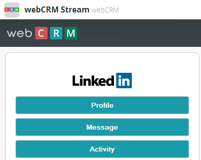 Here is the webcrm App form.