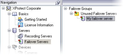 Failover Servers Failover Servers Are Grouped Failover servers are always grouped; a group can contain one or more failover servers.