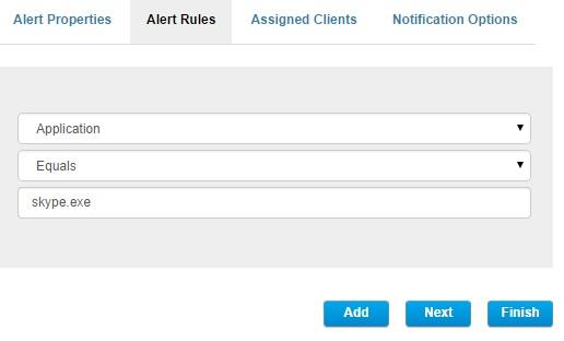 5. To set up the alert notification about a specific user (e.g.