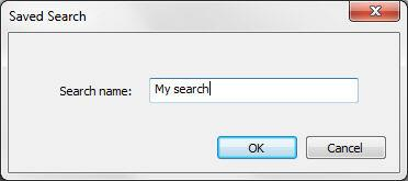 the search parameters and click OK. 4.
