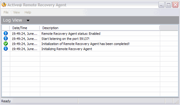 "Using Active@ Remote Recovery Agent ACTIVE@ RECOVERY AGENT OVERVIEW The Active@ Remote Recovery Agent provides unique ability (as a ""server"") to let Active@ UNDELETE application (act as a ""client"")"