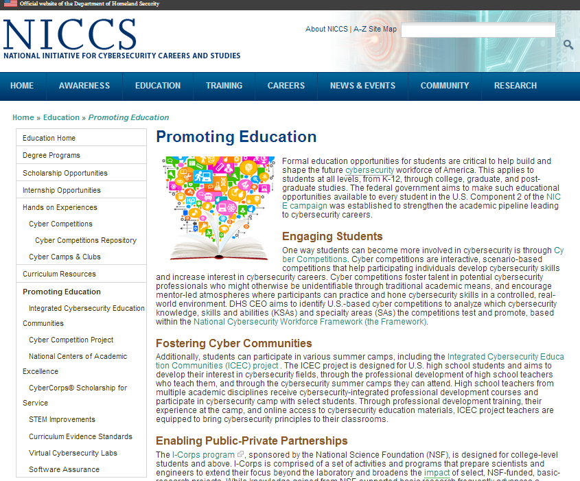 Navigating Education: Promoting Education Learn more about Educational opportunities at the Promoting Education page.