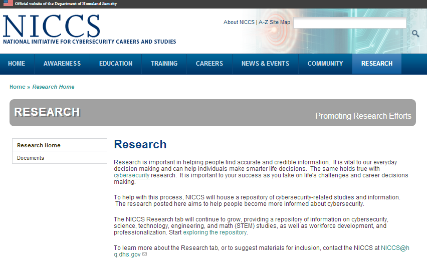 Navigating the Research Tab To access the Research page, click on the Research tab.