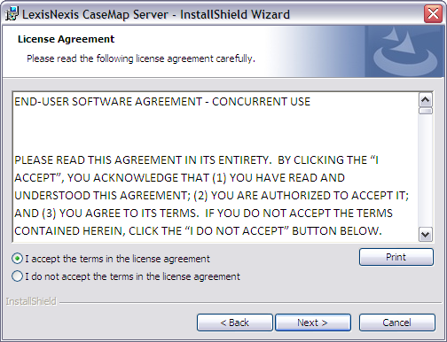review the license agreement and