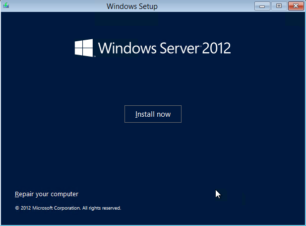 Appendix D. Installing Windows Server 2012 This appendix will provide you step-by-step instructions on how to install Windows Server 2012 in your environment.