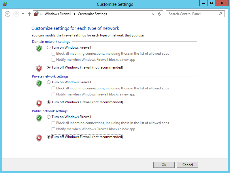 5. Click Turn Windows Firewall on or off. 6.