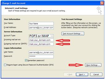 Outlook 2007 1. Open Outlook. 2. Click the Tools menu, and select Account Settings... 3.