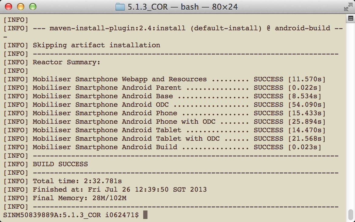 Developer Guide: Smartphone Mobiliser Applications  Sybase
