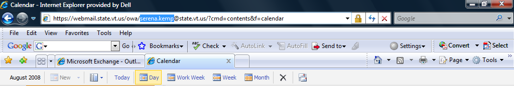 How to view another user s calendar in OWA NOTE: In order to see the information of a user, this user must have given you the permission to share their information with you.