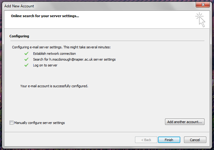 6. Once the settings have been retrieved you will be prompted to log in.