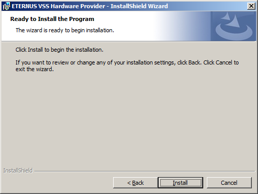 3. Click [Next] to accept the default directory for the installation files. Figure 5: Destination Folder Window 4.