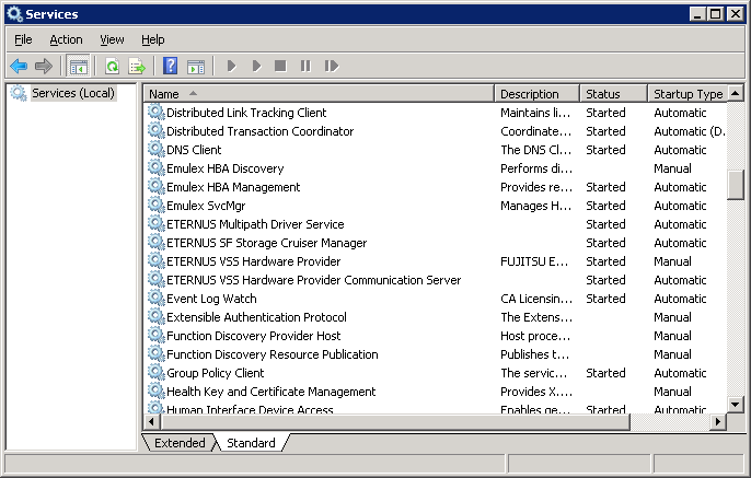 Figure 24: Services Window 5-3-3. Verifying VSSHP Operations with DISKSHADOW To verify that the VSS functionality works correctly, you can use the Diskshadow command tool.